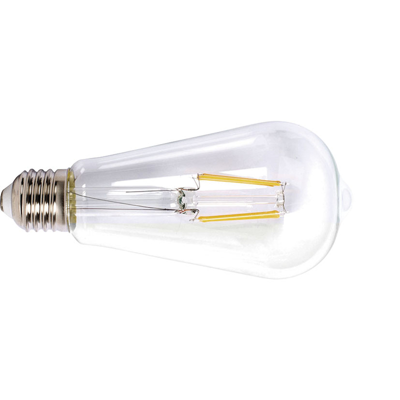 Bombilla con filamento LED pera transparente DUOLEC E27 luz cálida 8W