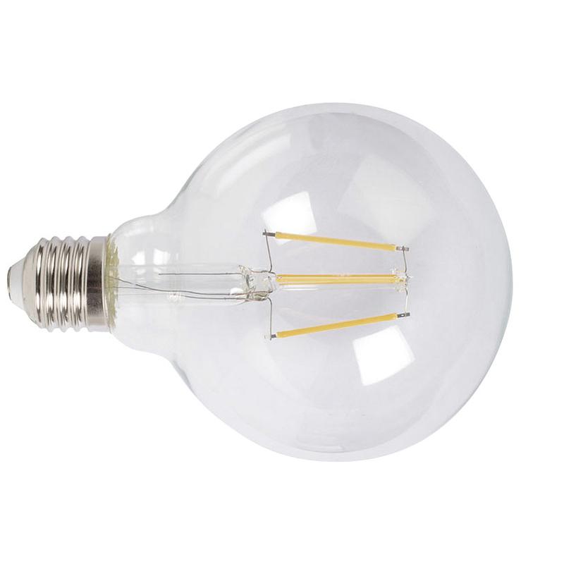 Bombilla con filamento LED globo G95 transparente DUOLEC E27 luz cálida 8W