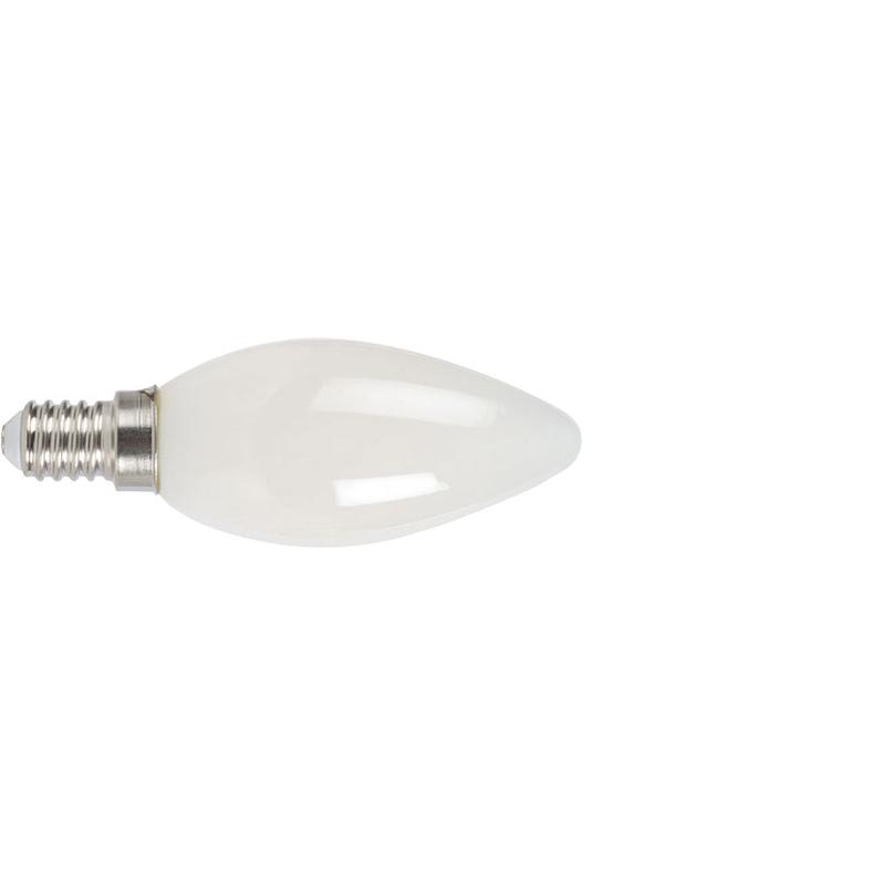 Bombilla con filamento LED vela opal DUOLEC E14 luz cálida 4W