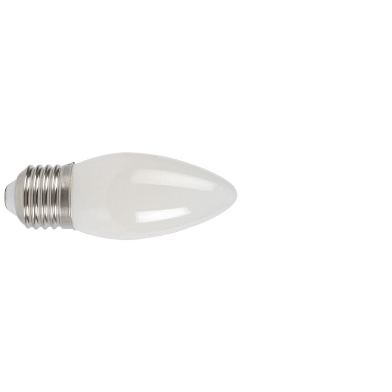 Bombilla con filamento LED vela opal DUOLEC E27 luz cálida 4W