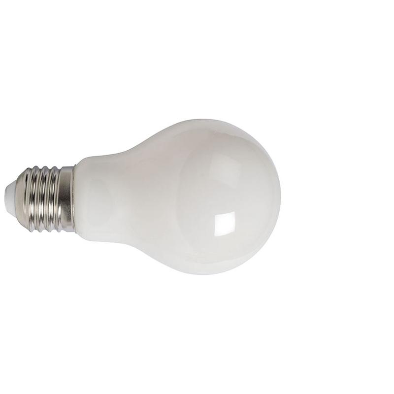 Bombilla con filamento LED estándar opal DUOLEC E27 luz cálida 8W