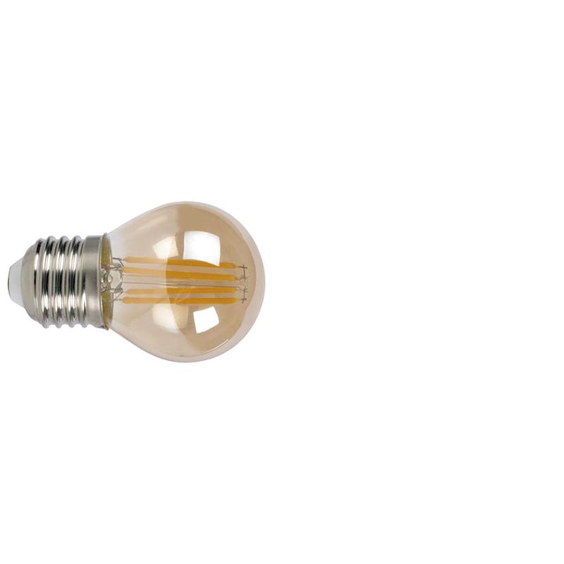Bombilla con filamento LED mini globo vintage DUOLEC E27 luz cálida 4W