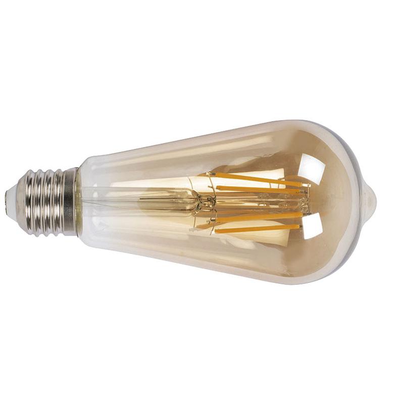 Bombilla con filamento LED pera vintage DUOLEC E27 luz cálida 8W