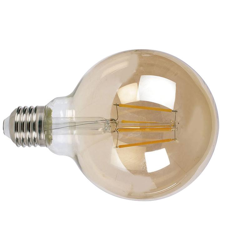 Bombilla con filamento LED globo G95 vintage DUOLEC E27 luz cálida 8W