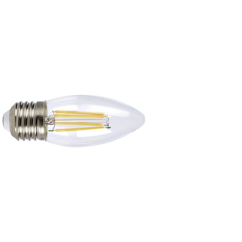 Bombilla con filamento LED vela DUOLEC E27 luz fría 4W