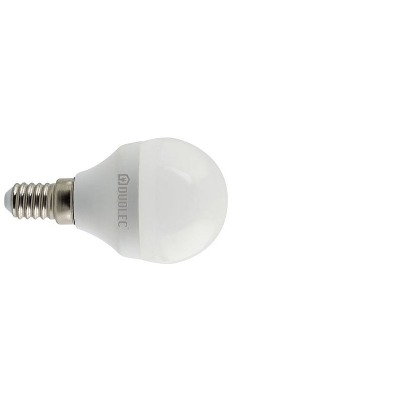 Bombilla LED mini globo 200º DUOLEC E14 luz día 5w