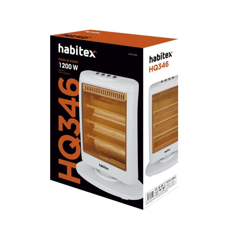 Estufa cuarzo HABITEX E346 1200 W