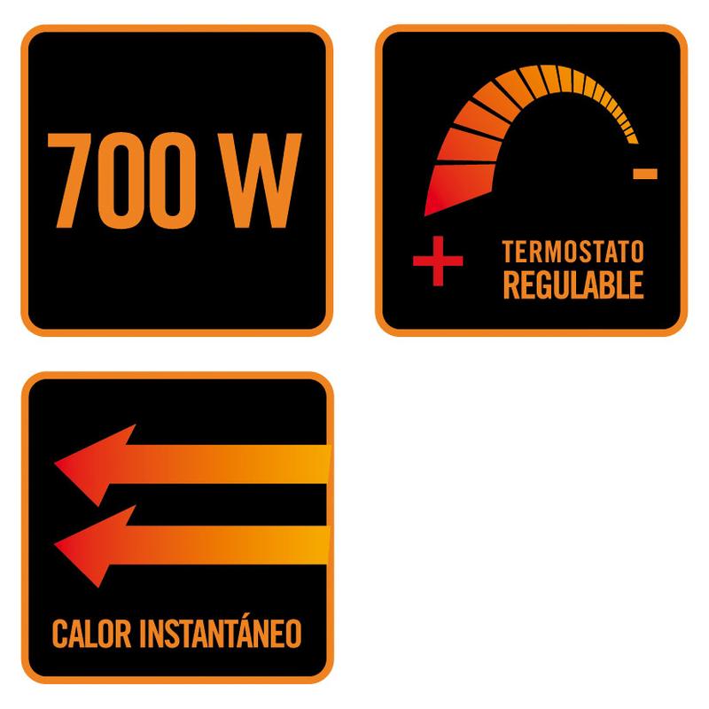Mini radiador de aceite E352 HABITEX 700 W