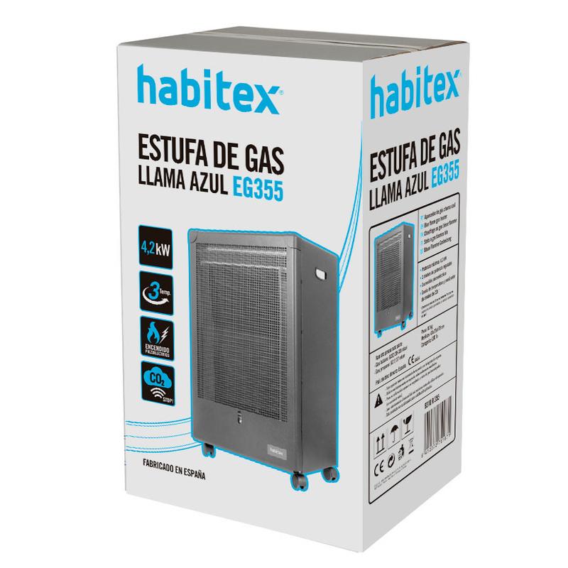 Estufa de gas HABITEX llama libre EG355
