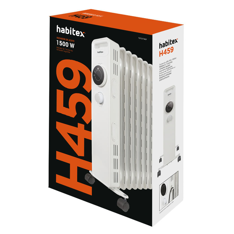 Radiador de aceite HABITEX H459 1500 W