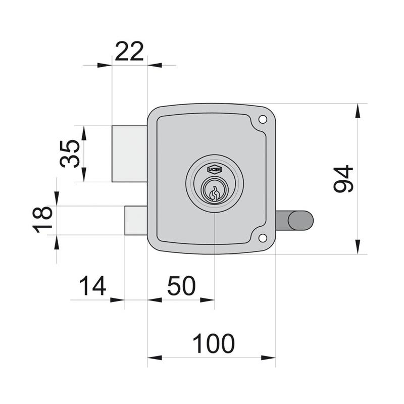 Cerradura sobreponer UCEM modelo 4125