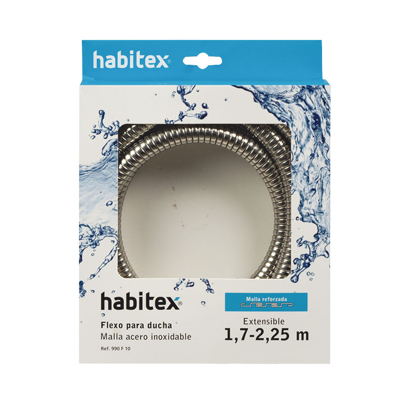 Flexo extensible ducha HABITEX inox 1,70-2,25 m