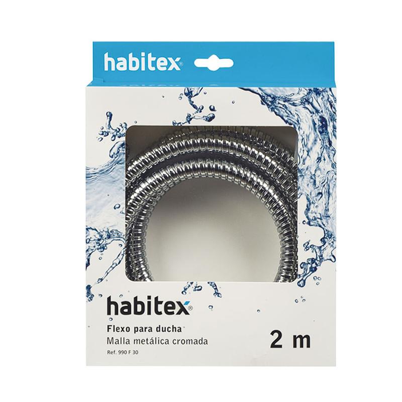Flexo ducha HABITEX inox 2M