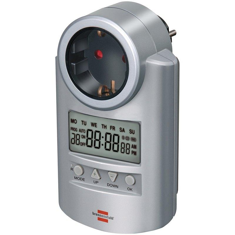 Reloj conmutador digital para programación semanal DT Brennenstuhl