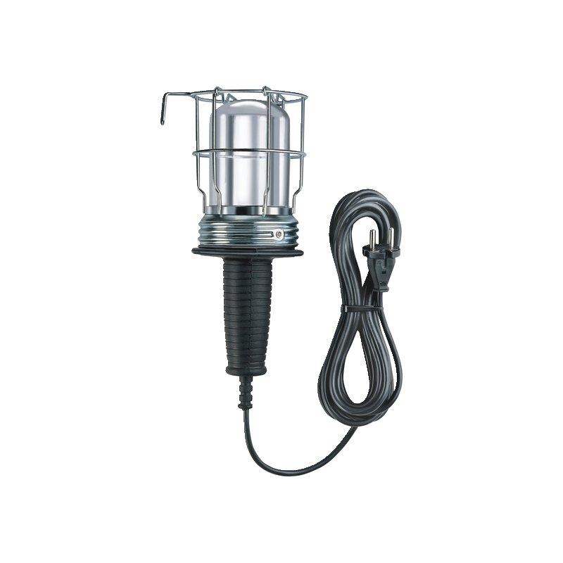 Aplique lámpara de taller con clavija Shucko (60W) Brennenstuhl
