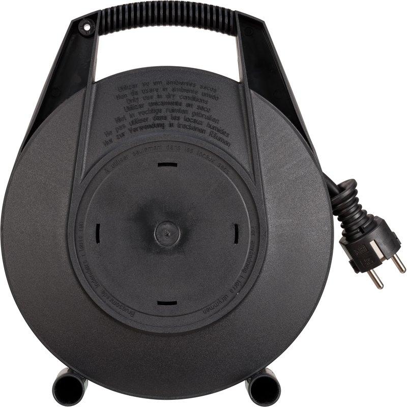 Enrollacables Vario-Line con función de carga USB negro IP20 H05VV-F 3G1,5 para uso doméstico Brennenstuhl
