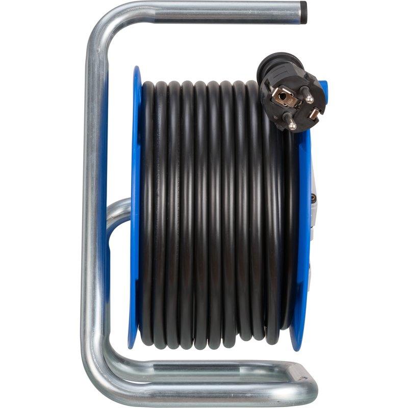 Enrollacables Garant® compacto IP20 H05VV-F 3G1,5 para uso interiores con función de carga USB Brennenstuhl