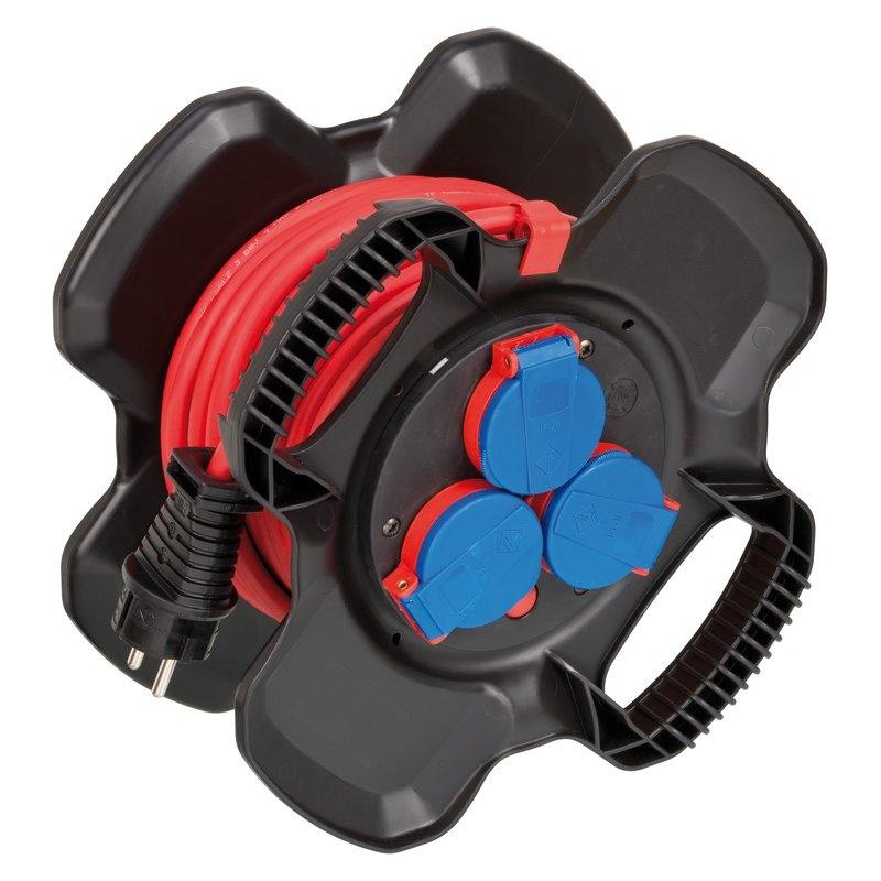 Enrollador de cable X-Gum IP44 AT-N05V3V3-F 3G1,5 para uso industrial, construcción y doméstico Brennenstuhl
