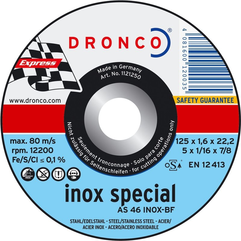 Pack de discos de corte AS 46 T INOX Special Express LIFETIME PLUS  Dronco