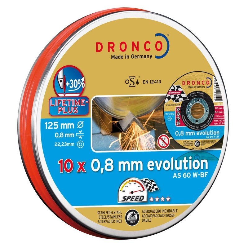 Pack de discos de corte AS 60 W EvolutionLifetime Plus (10 uds. en lata sellada) Dronco