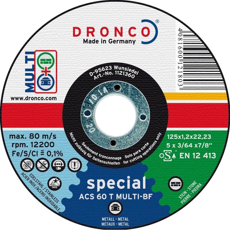 Pack de discos de corte ACS 60 T Multi Special (10 uds. en caja metálica) Dronco
