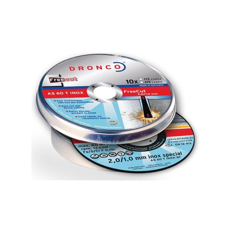 Pack de discos de corte AS 60 T INOX FreeCut Special (10 uds. en caja metálica) Dronco