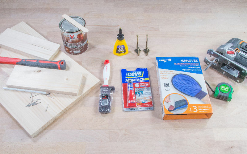 Materiales para hacer un estante para baño