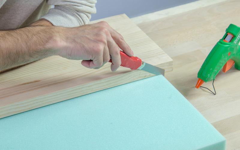 Cómo hacer un banco tapizado para recibidor o dormitorio 1