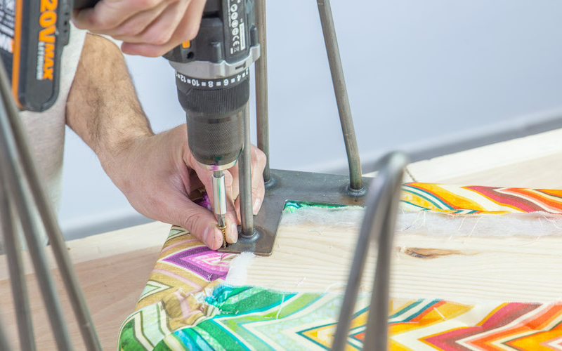 Cómo hacer un banco tapizado para recibidor o dormitorio 8