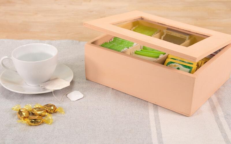 Caja de infusiones de madera