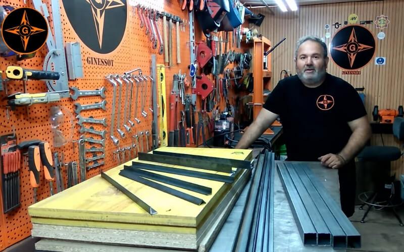 Piezas de metal y tableros del banco de trabajo de Ginessot bricolaje
