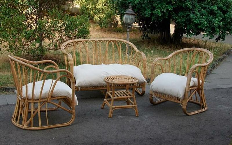 Ideas para la terraza con muebles de mimbre