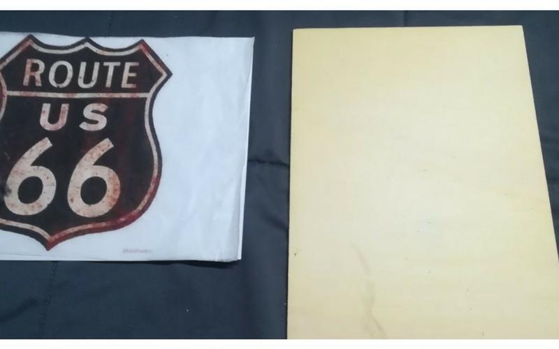 Cómo hacer un cartel ruta 66