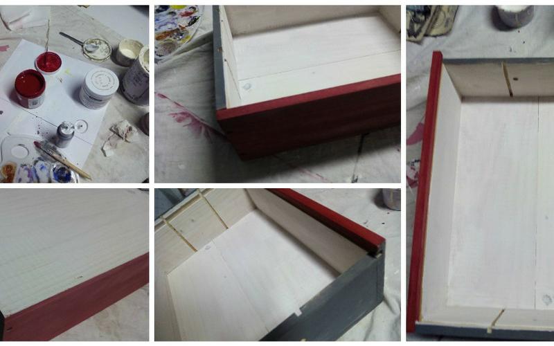 Caja de vino DIY paso 1