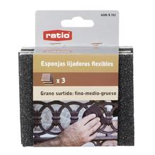 Pack - Juego 3 esponjas abrasivas RATIO