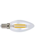 Bombilla con filamento LED vela DUOLEC E14 luz cálida 4W